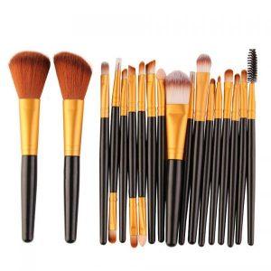 set de 18 brochas de maquillaje de pelo de cabra