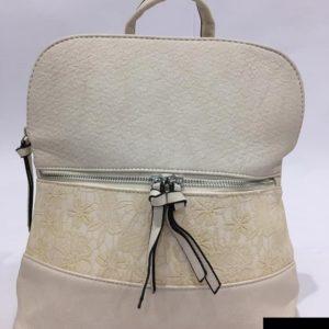bolso mochila mujer beige elegante