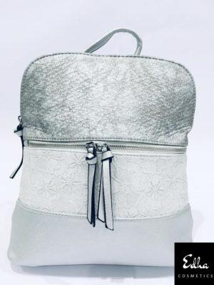 mochila mujer con forro plateado