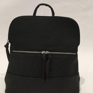 mochila mujer negra bolsillos