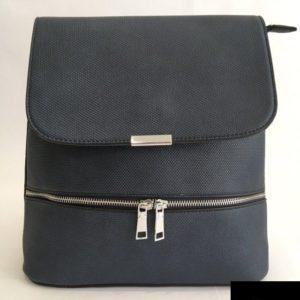 mochila mujer azul marino solapa