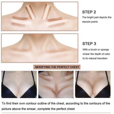 contouring para pecho y escote