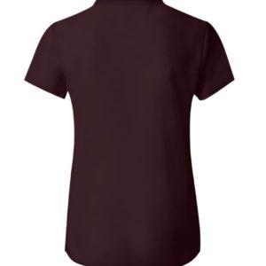 blusa de gasa semitransparente