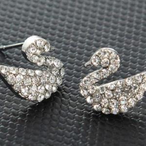 pendientes diamantes cisnes