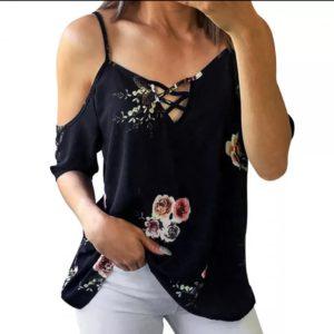 blusa de moda hombros descubiertos