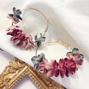 Pendientes Aros con Flores