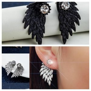 Pendientes alas de ángel retro gótico