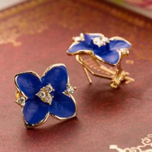 Pendientes originales petalos de flores