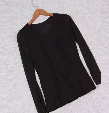 blusa de gasa barata elegante