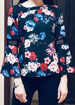 comprar blusa flores moderna y barata
