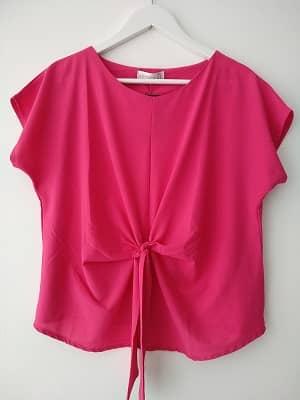 blusa rosa verano manga corta