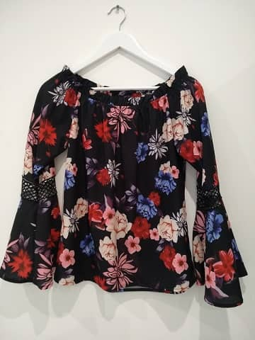 blusa flores ofertas en tienda